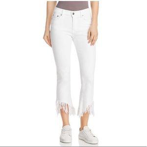 NWT Pistola Tallis White Raw Hem Jeans Size 29